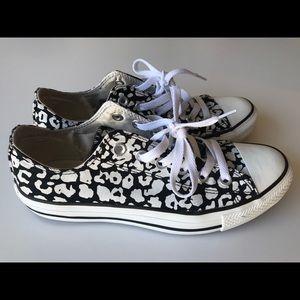 Women's converse black/white leopard print EUR 39